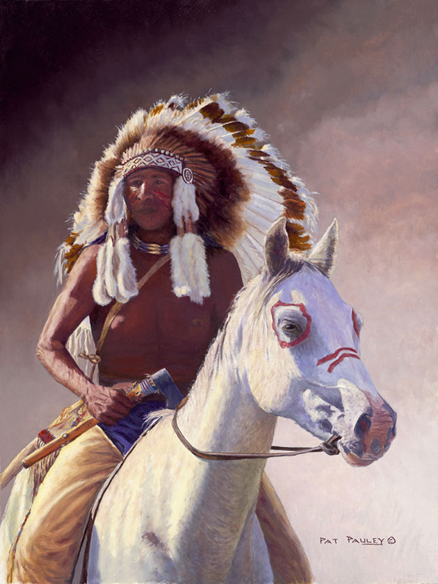 Chief Original Oil Painting by Pat Pauley