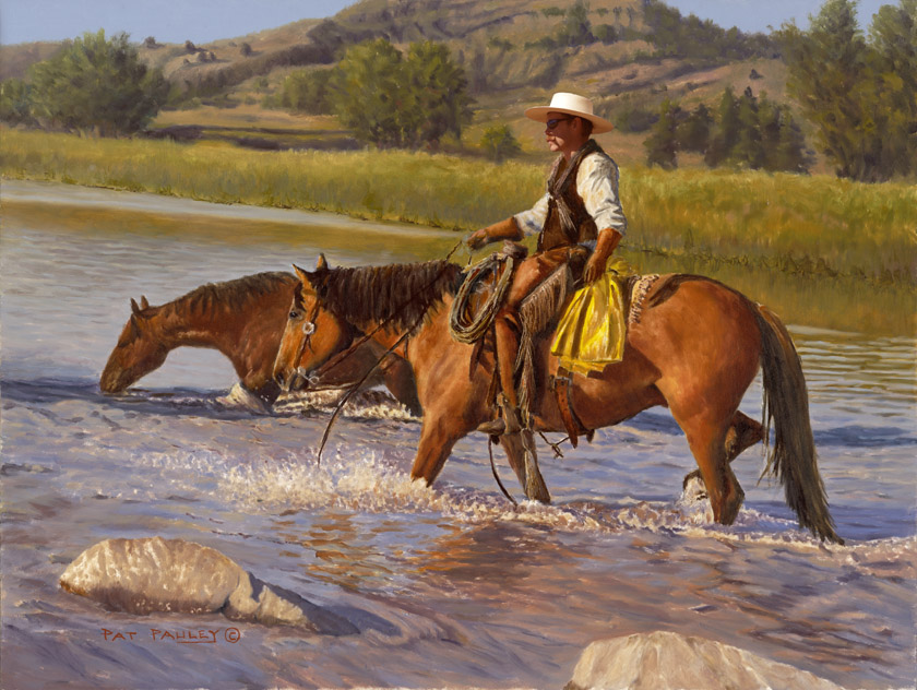 Cool Crossing Horse Painting by Pat Pauley